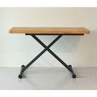 東馬(Tohma) aldy リフティングテーブル ナチュラル 幅1200×奥行600×高さ230~720mm 1台 (直送品)