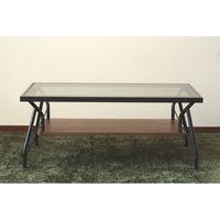 東馬(Tohma) messe リビングテーブル ブラック 幅900×奥行550×高さ380mm 1台 (直送品)
