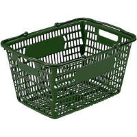 サンコー サンショップカーゴ27L(グリーン) 1セット(5個入) 買い物カゴ 102797 (直送品)
