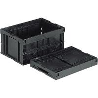 サンコー オリコン 40B-N (導電) フタ無 41.4L ブラック (直送品)