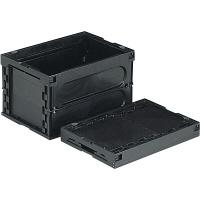 サンコー オリコン 50B-M(導電) フタ無 50.6L ブラック (直送品)