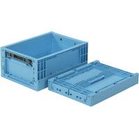 サンコー オリコン EP12B フタ無 12.9L ライトブルー (直送品)