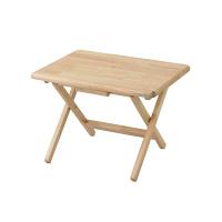 YAMAZEN(山善) 天然木折りたたみサイドテーブル ロータイプ ナチュラル 幅485×奥行375×高さ350mm 1台 (直送品)