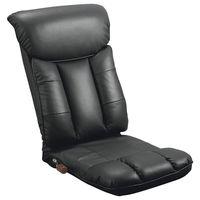 ミヤタケ(宮武製作所) スーパーソフトレザー座椅子 -彩- ブラック YS-1310 BK (直送品)