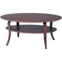 東谷(AZUMAYA) オーバルテーブル ブラウン 幅1000×奥行600×高さ420mm 1台 (直送品)