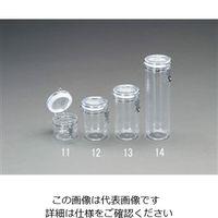 esco(エスコ) 直径132x90mm/0.45L密閉容器(ポリスチレン製) EA508AR-11 1セット(4個) (直送品)