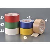 エスコ(esco) 50mmx25m 布粘着テープ(黄) 1セット(250m:25m×10巻) EA944ND-45(直送品)