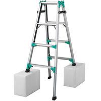 Hasegawa(長谷川工業) アルミ合金 はしご兼用脚立脚部伸縮式 4段 (4尺 133cm) RYZ1.0-12 1台 (直送品)