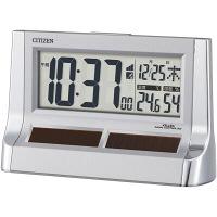 リズム時計(RHYTHM) CITIZEN(シチズン) パルデジットソーラーR128 [電波 置き 時計] シルバー 8RZ128-019 1個 (直送品)