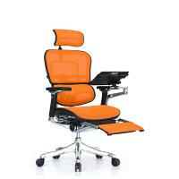 エルゴヒューマン プロ オットマン内蔵 オフィスチェア 3Dファブリックメッシュ 肘付 オレンジ/KMD33 EHP-LPL 1セット(直送品)