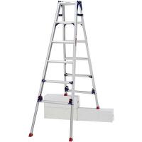 PiCa Corp(ピカコーポレイション) アルミ合金 はしご兼用脚立スタンダード 6段 (6尺 184cm) SCL-180A 1台 (直送品)