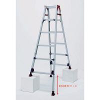 PiCa Corp(ピカコーポレイション) アルミ合金 はしご兼用脚立自在脚 6段 (6尺 188cm) SCM-J180 1台 (直送品)