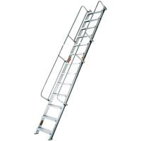 PiCa Corp(ピカコーポレイション) 1連 アルミ合金 折りたたみ式階段はしご 13段 413cm SWM-41B 1台 (直送品)