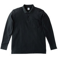 ボンマックス ポケット付CVC鹿の子ドライポロシャツ ブラック M MS3115-16(直送品)