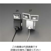 エスコ(esco) AC100V/22WLEDセンサーライト(2灯) 1台 EA864C-27(直送品)