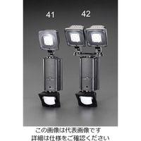 エスコ(esco) AC100V/31W LEDセンサーライト(調光タイプ/2灯) 1台 EA864C-42(直送品)