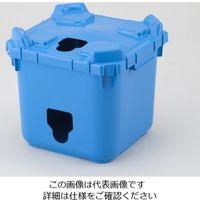 アズワン バッグインコンテナー 本体穴有 フタ穴有 青 BIC20-1 1個 2-4171-12 (直送品)
