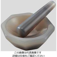アズワン メノー乳鉢(浅型) φ75×φ90×20mm 乳棒付き 1個 2-887-05 (直送品)