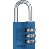日本ロックサービス ABUS ナンバー可変式南京錠 145-30 ブルー 145-30-BL 1個 445-1325(直送品)