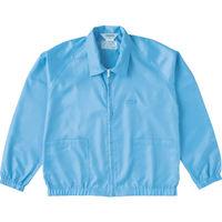 トラスコ中山(TRUSCO) 制電糸グリッド仕様ジャケット(衿付) ブルー LL TCLGJ-B-LL 1着 474-8549 (直送品)