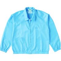 トラスコ中山(TRUSCO) 制電糸グリッド仕様ジャケット(衿付) ブルー M TCLGJ-B-M 1着 474-8557 (直送品)