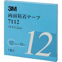 3M 両面粘着テープ 12mmX10m 厚さ1.2mm 灰色 1巻入り 7112 12 AAD 475-3593(直送品)