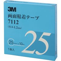 3M 両面粘着テープ 25mmX10m 厚さ1.2mm 灰色 1巻入り 7112 25 AAD 475-3607(直送品)