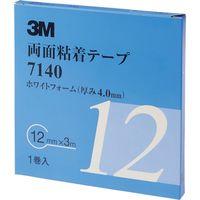 スリーエム ジャパン(3M) 3M 両面粘着テープ 12mmX3m 厚さ4.0mm 白 7140 12 AAD 475-3682(直送品)