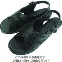 ニッポンスリッパ オフィスサンダル ブラック L 400925 1足 480-3060(直送品)