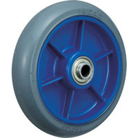 イノアック 低始動抵抗キャスター 車輪のみ Φ150 グレー シャフトΦ20 LR-150W-GR-20 483-5221(直送品)