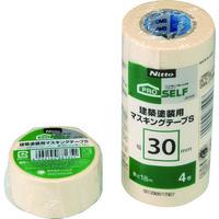 ニトムズ(nitoms) ニトムズ 建築塗装用マスキングテープS 30×18 (4巻入) J8104 1パック(72m) 486-6339(直送品)