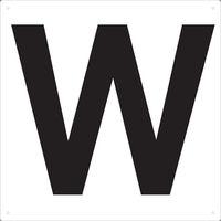 トラスコ中山(TRUSCO) TRUSCO 表示板 アルファベット「W」 420X420 TAEH-W 1枚 487-6610(直送品)