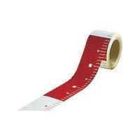 アラオ(ARAO) テープロッド 50w×25M赤白20 ピッチ AR-063 1巻 489-7668 (直送品)