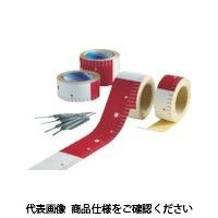 アラオ(ARAO) テープロッド 75w×25M赤白20 ピッチ AR-065 1巻 489-7684 (直送品)