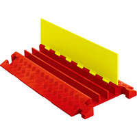 JUSTRITE(ジャストライト) CHECKERS ラインバッカー ケーブルプロテクタ 重量型 電線3本 CP3X225-Y/O 490-4044(直送品)