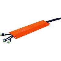 JUSTRITE(ジャストライト) CHECKERS ファーストレーン ケーブルプロテクター 軽量型 電線2本 FL2X1.75-O 491-5011(直送品)