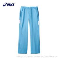 住商モンブラン アシックス レディスパンツ ナースパンツ 医療白衣 ウォームブルー×ホワイト S CHM151-0401(直送品)