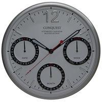 リンクスパイア オートカレンダー機能付マルチファンクション掛け時計 [電波 カレンダー 掛け 時計] ホワイト CA-40WT 1個 (直送品)