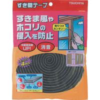 槌屋 すき間テープ ダークグレー 5mm×15mm×4m SKU-003 1セット(28m:4m×7巻) 356-4223 (直送品)