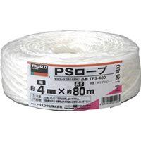 トラスコ中山 TRUSCO PSロープ 幅4mmX長さ80m 白 TPS480 1セット(6巻入) 360ー6996 (直送品)
