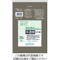 日本サニパック サニパック V-39 再生原料使用 雑色半透明ゴミ袋30L 10枚入り V-39-GY 303-7452(直送品)