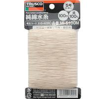 トラスコ中山 TRUSCO 純綿水糸 線径0.9mm 100m巻 MI5100M 1セット(8巻入) 215ー4226 (直送品)