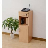YAMAZEN(山善) 電話台 幅300×奥行295×高さ900mm ライトブラウン (直送品)