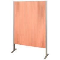 林製作所 ダブルプリーツ伸縮スクリーンS 防炎・抗菌タイプ L7055 サイズS 幅900mm 高さ1400mm オレンジ (直送品)