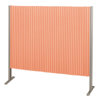 林製作所 ダブルプリーツ伸縮スクリーンS 防炎・抗菌タイプ L7061 サイズS 幅1350mm 高さ1200mm オレンジ (直送品)
