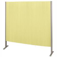 林製作所 ダブルプリーツ伸縮スクリーンS 防炎・抗菌タイプ L7063 サイズS 幅1350mm 高さ1400mm グリーン (直送品)