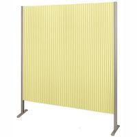 林製作所 ダブルプリーツ伸縮スクリーンS 防炎・抗菌タイプ L7066 サイズS 幅1350mm 高さ1600mm グリーン (直送品)