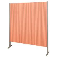 林製作所 ダブルプリーツ伸縮スクリーンS 防炎・抗菌タイプ L7067 サイズS 幅1350mm 高さ1600mm オレンジ (直送品)
