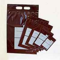 茶遮光ユニパック 0.05mm厚 H 170mm×240mm 書き込み可 1箱(1000枚:100枚入×10袋) 金鵄製作所 (直送品)