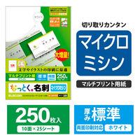 エレコム 名刺/標準/250枚/白 MT-JMN1WNZ 1セット(3個) (直送品)